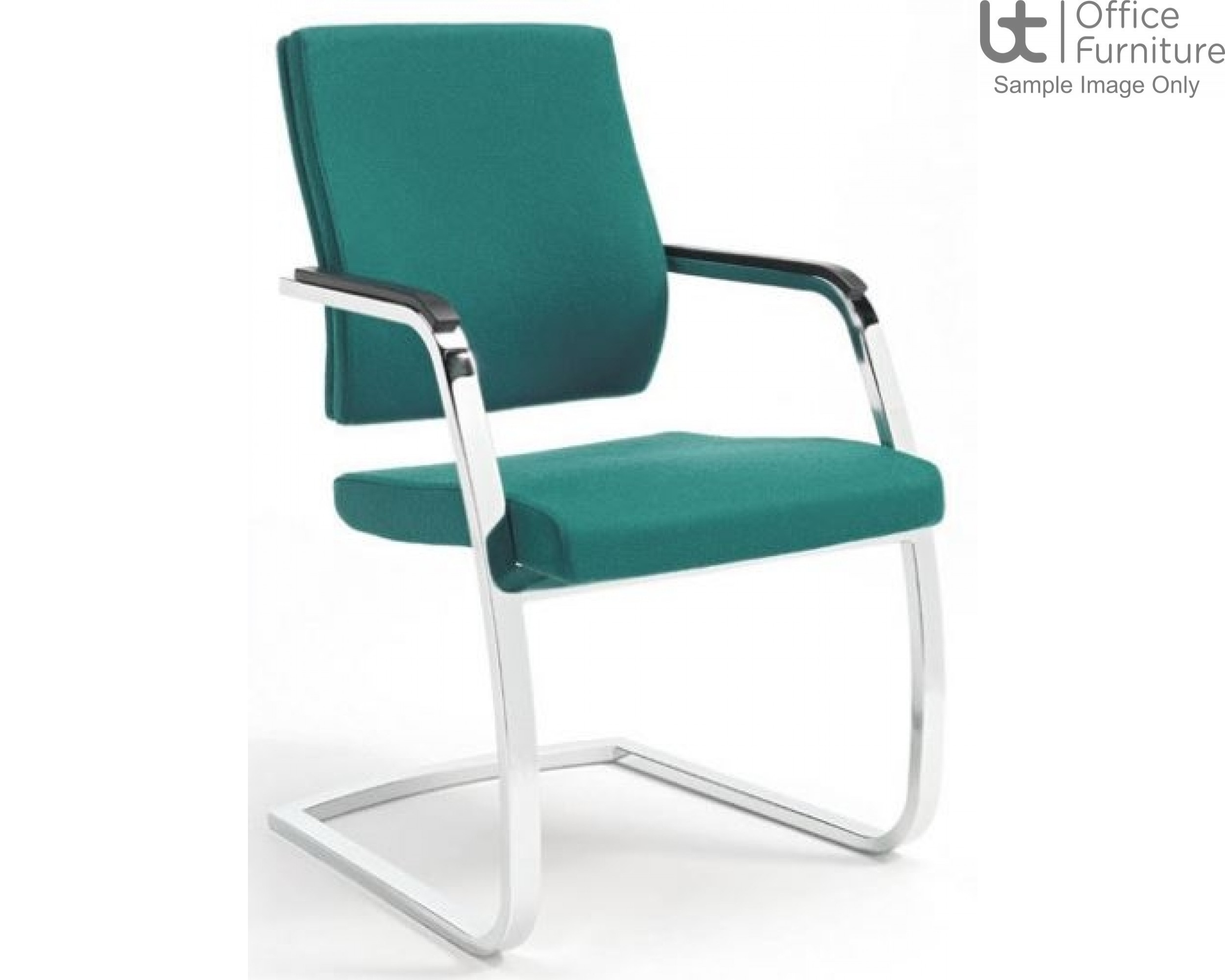 Verco Executive seating - Vibe Show Wood Medium Back Visitor Chair with Arms