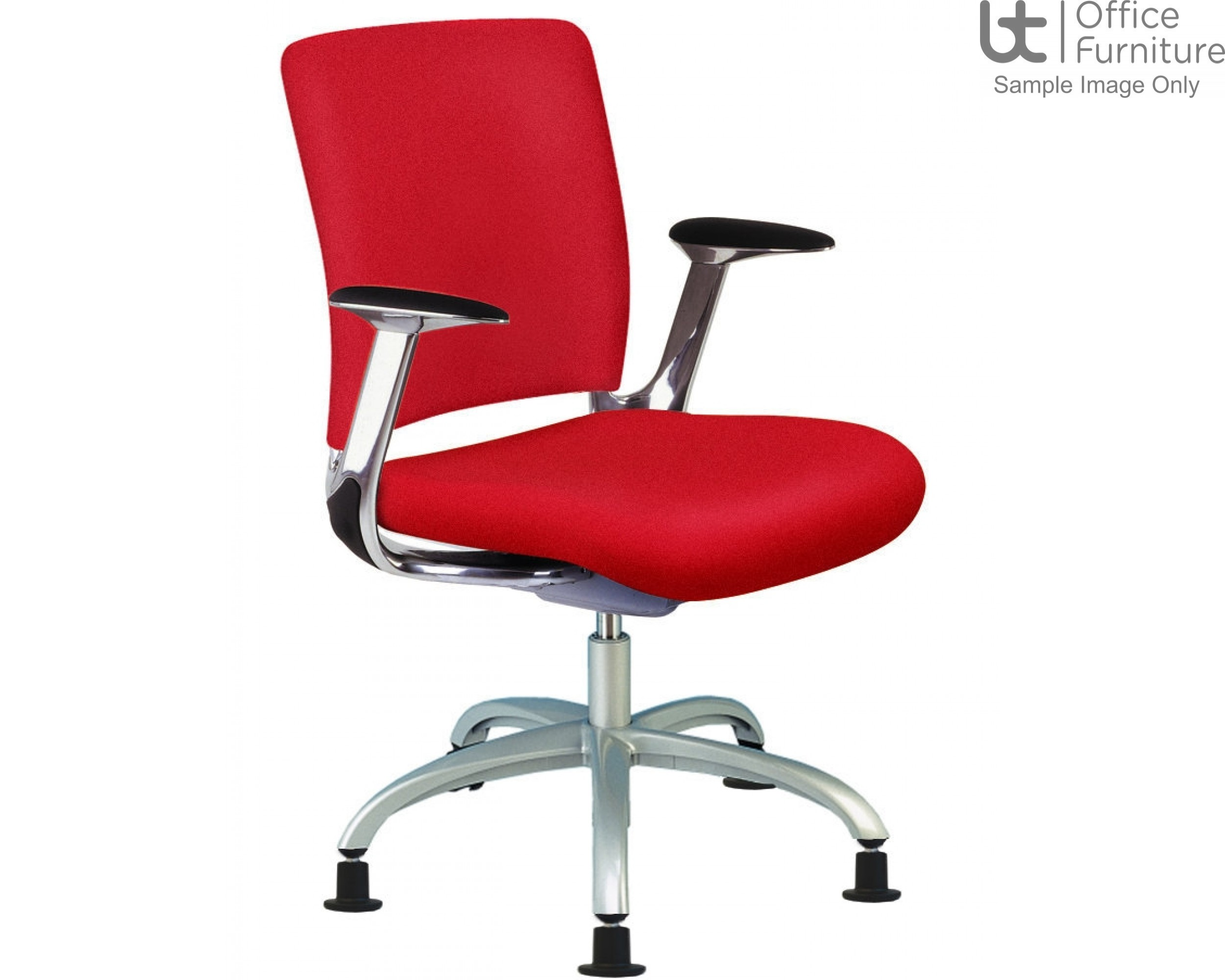 Verco Operator/Task Chair - V-Smart Medium Back Conference Chair with Arms