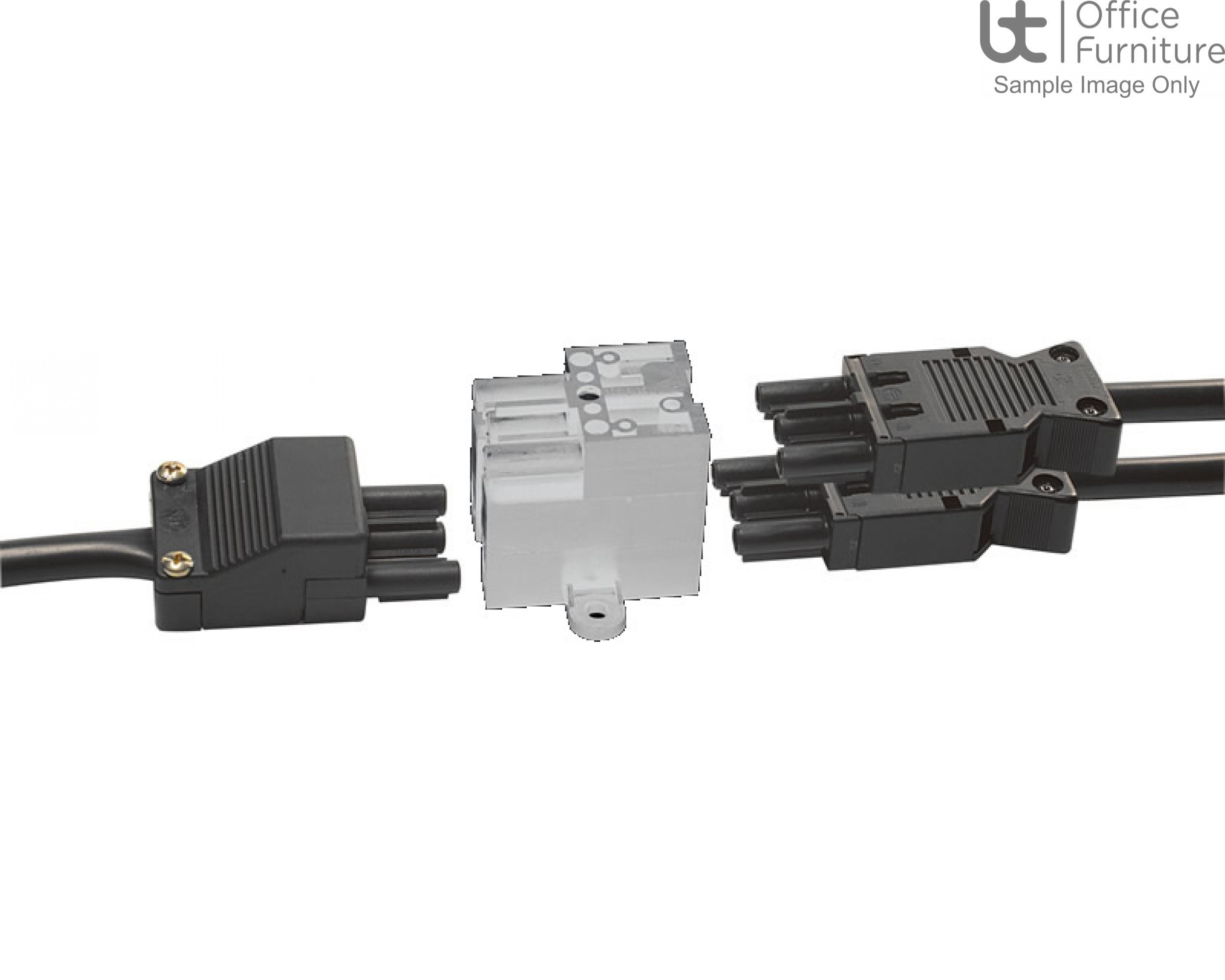 DMC Cable Accessories - White Extended splitter block, 1 GST input, 3 GST outputs