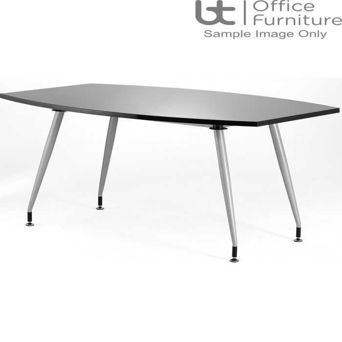 Black High Gloss Conference Table W1800 x D1200mm - Seats 6