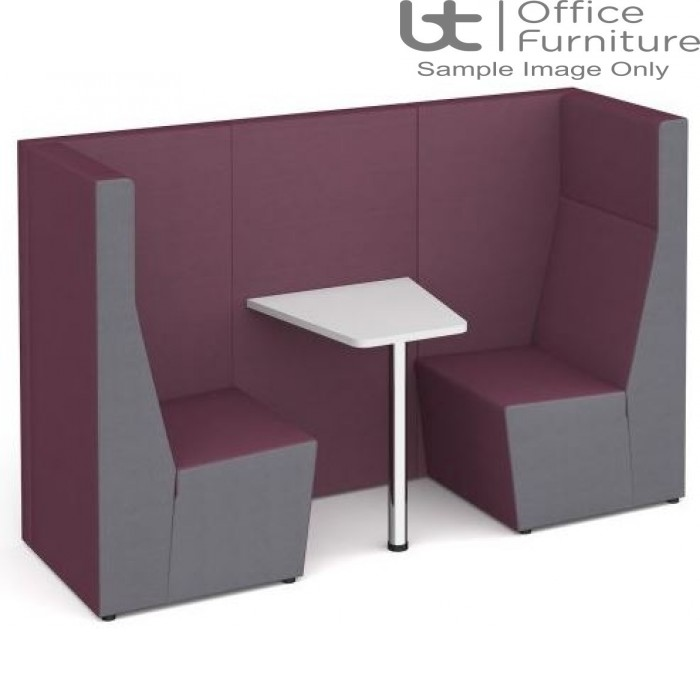 Ziggie High Back 2 Person Meeting Booth with Table - made to order