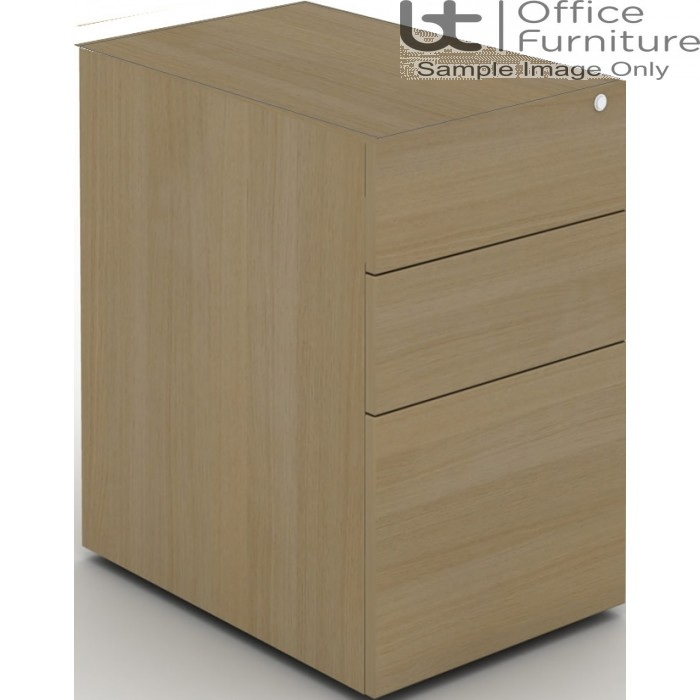 MB Storage Solutions -  Desk High 3 Drawer MFC Support Pedestal Without Top 800 Deep