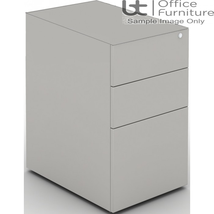 MB Storage Solutions -  Desk High 3 Drawer MFC Support Pedestal Without Top 600 Deep