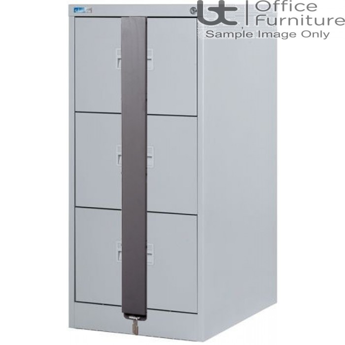 Silverline Midi A4 3 Drawer Filing Cabinet + Security Bar