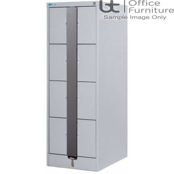 Silverline Midi A4 4 Drawer Filing Cabinet + Security Bar