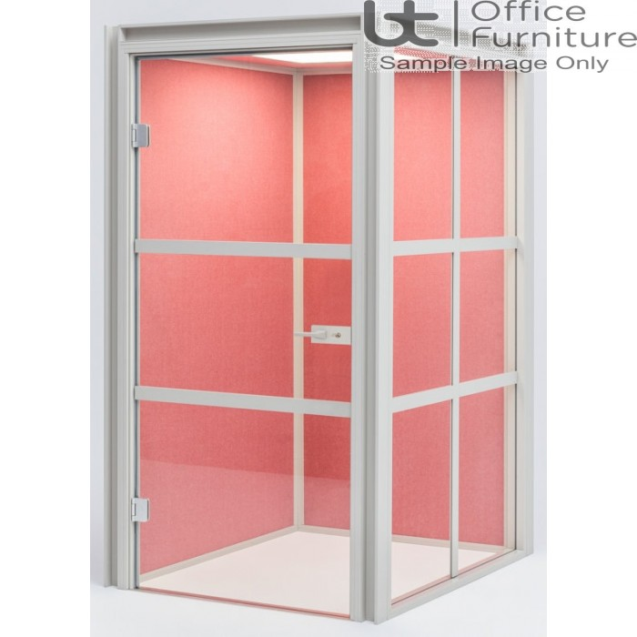 Modern Hako Acoustic Booth - Accommodates: 1 Person, 2 Upholstered Walls