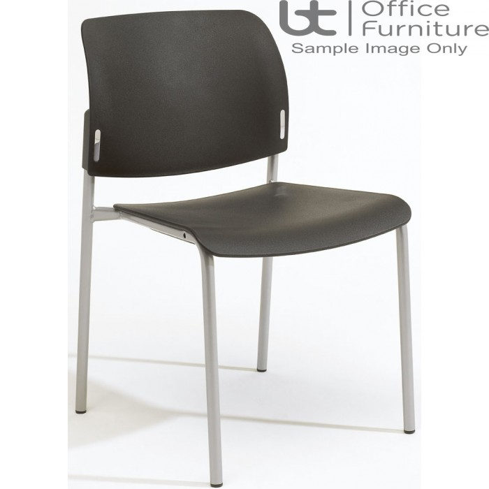 Verco Visitor / Conference Seating - Add 4 legged Plastic Stacking Chair