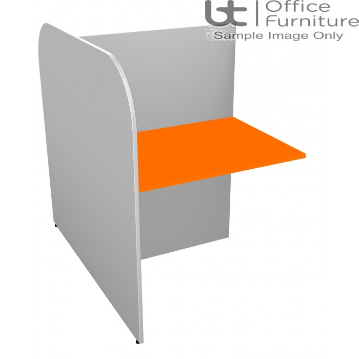 BT Study Carrel Single Back to Back Add-On Unit - 1268mm Deep - (Band 3 Colour Choices)