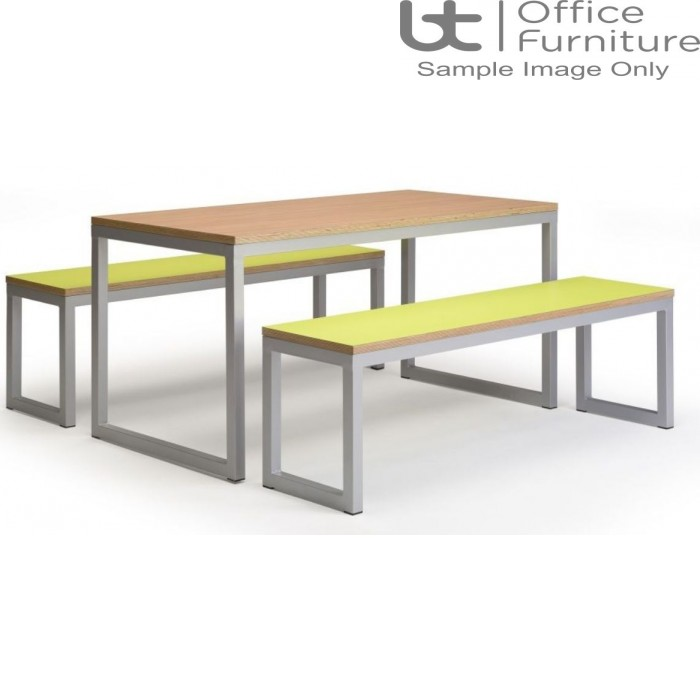 Urban 40/40 Robust 25mm Laminate Top School Bench Dining Sets W1500mm (Std Frame Colours)