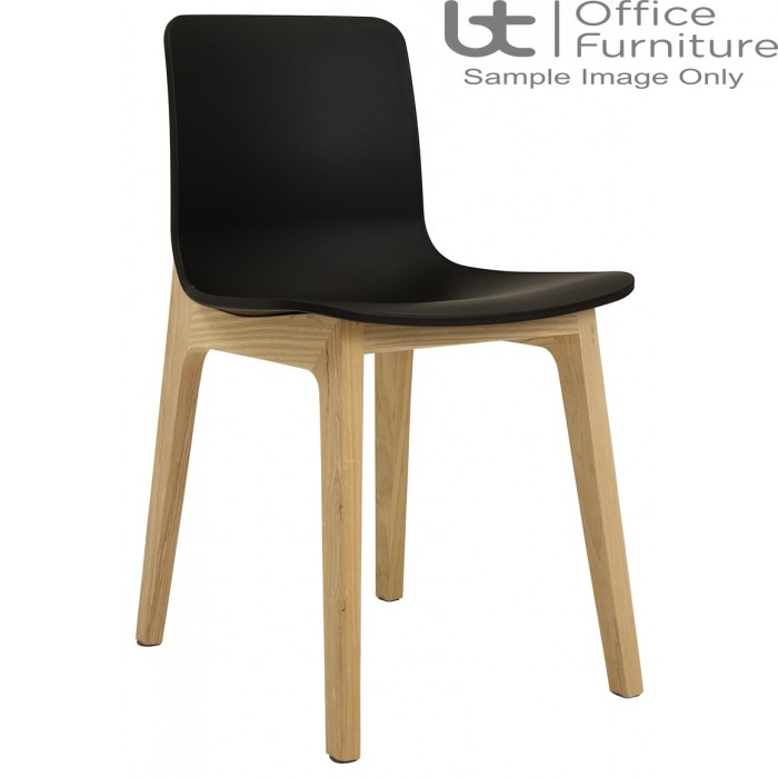 Elite Breakout Seating - Bill Polypropylene Shell Breakout Chair with Wooden Frame