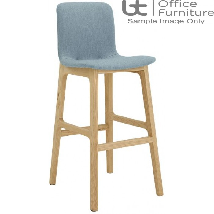 Elite Breakout Stools - Bill Wooden Frame Bar Stool with Fabric Seat