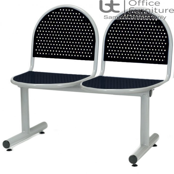 Ambe Deluxe Steel 2 Seat Perforated Beam Seating Unit