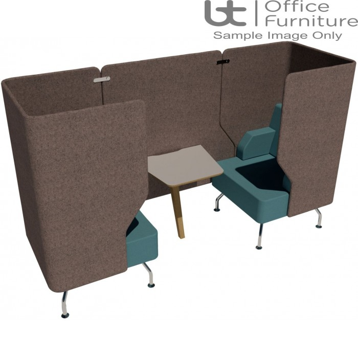 Verco Pod/Booth - Brix-Up Two Person + 800mm Infill Panel & 600mm Deep MFC Table (Metal Legs - Arms NOT inc)