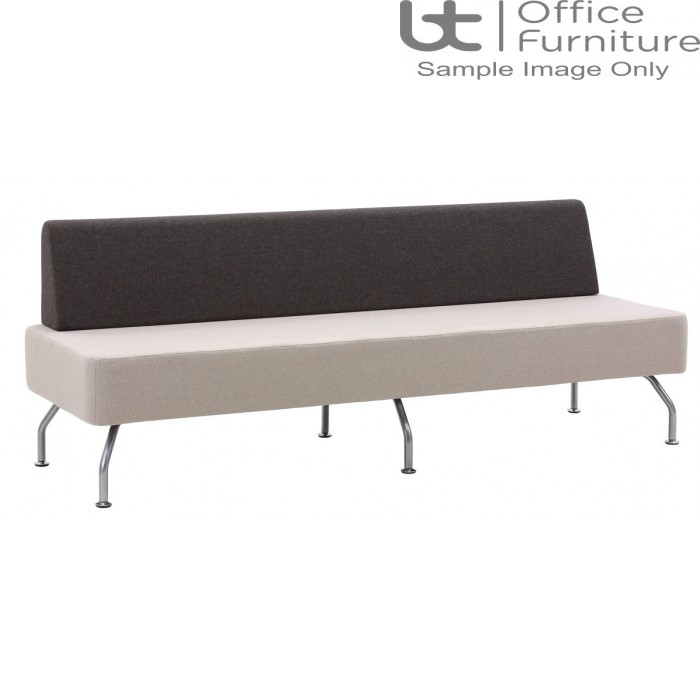 Verco Soft Seating - Brix Flat Back Three Seater Unit with a Single Back