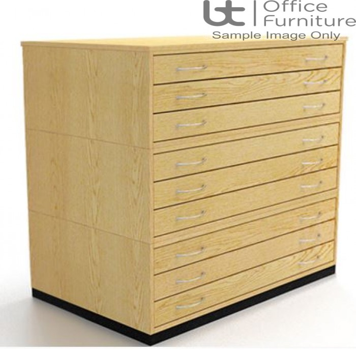 Traditional A1 9 Drawer Plan Chest (planchest)
