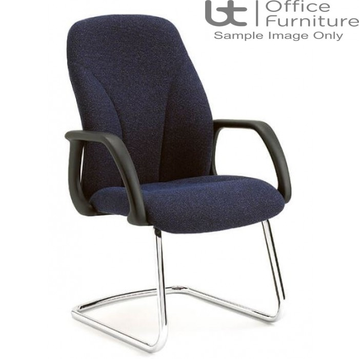 Verco Visitor / Conference Seating - Select 24 Medium Back Chrome Cantilever Frame Armchair