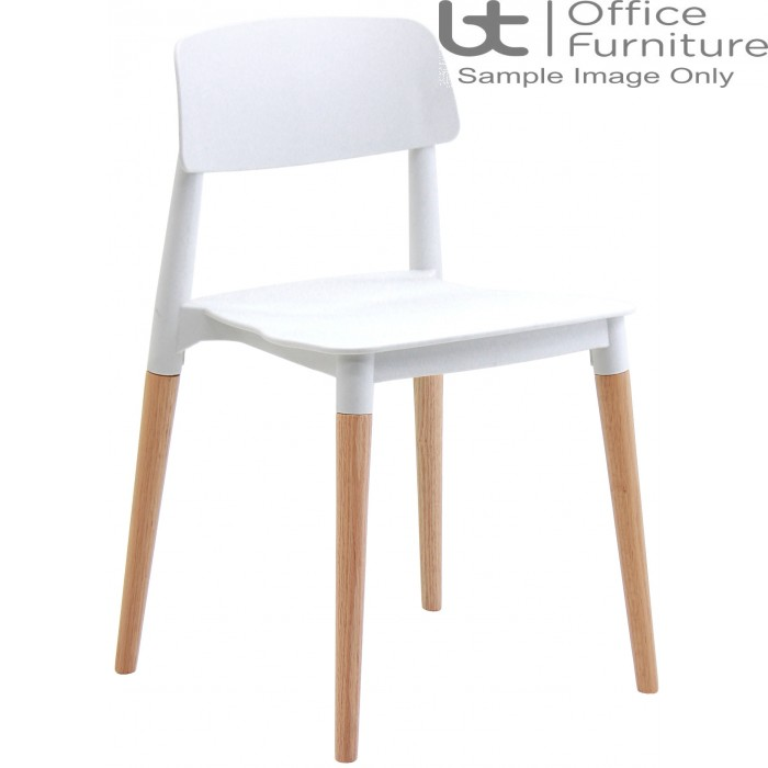 Verco Visitor / Conference Seating - Cleo White Medium Back Stacking Chair