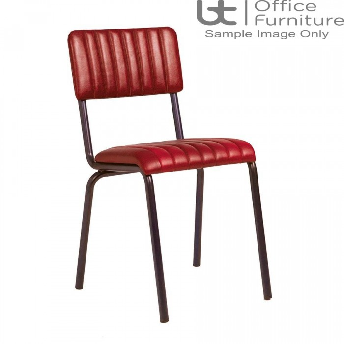 ZP CORE Ribbed Side Chair – Lascari Vintage Red