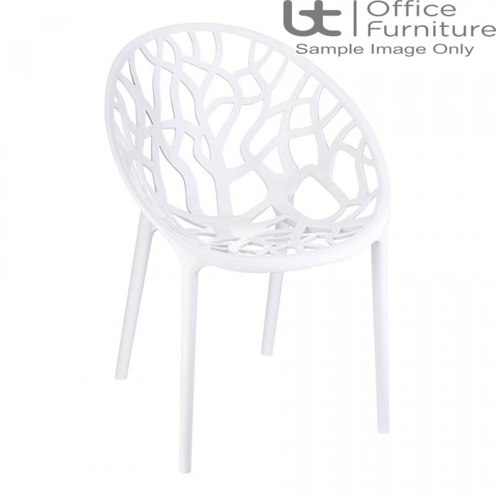ZP CRYSTAL Chair – Glossy White