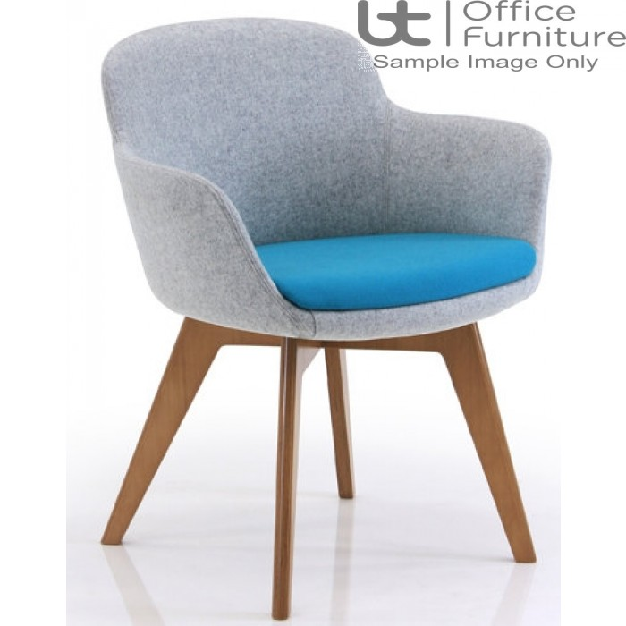 Verco Soft Seating - Danny Medium Back Tub Chair with a Solid Oak Wood Frame