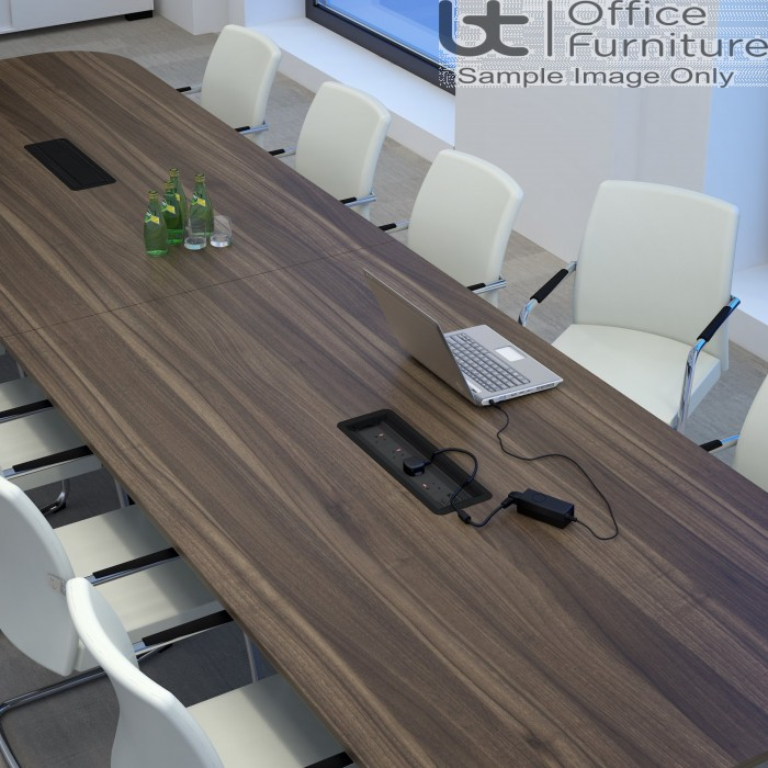 Elite Linnea Table - Double D Ended Conference Tables - Seats Up-to 10 People