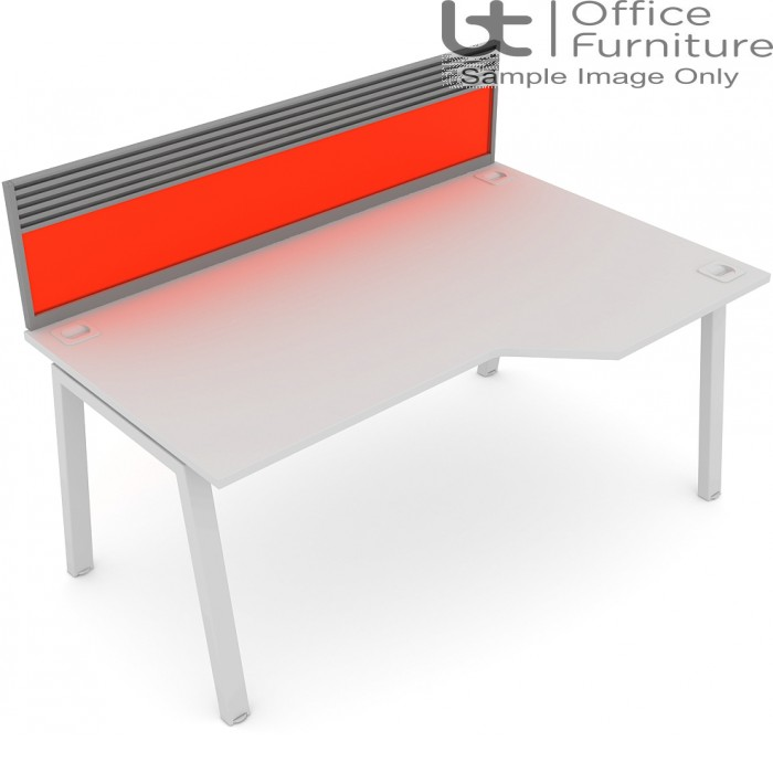 Elite Linnea System Screen - Acrylic Screen with Management Rail For Single Desk
