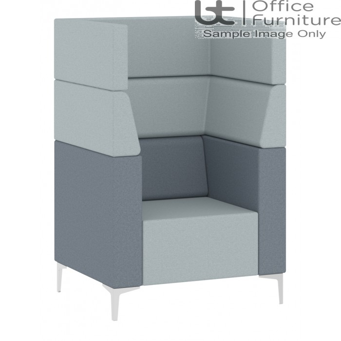 Elite Evo High Back Modular One Seat Unit with Arms 900w x 700d x 1350h