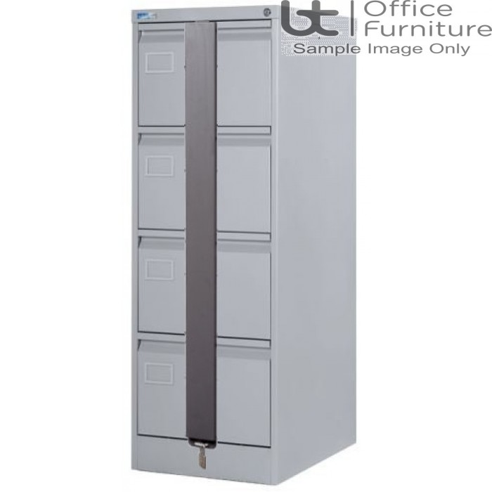 Silverline Executive Foolscap 4 Drawer Filing Cabinet + Security Bar