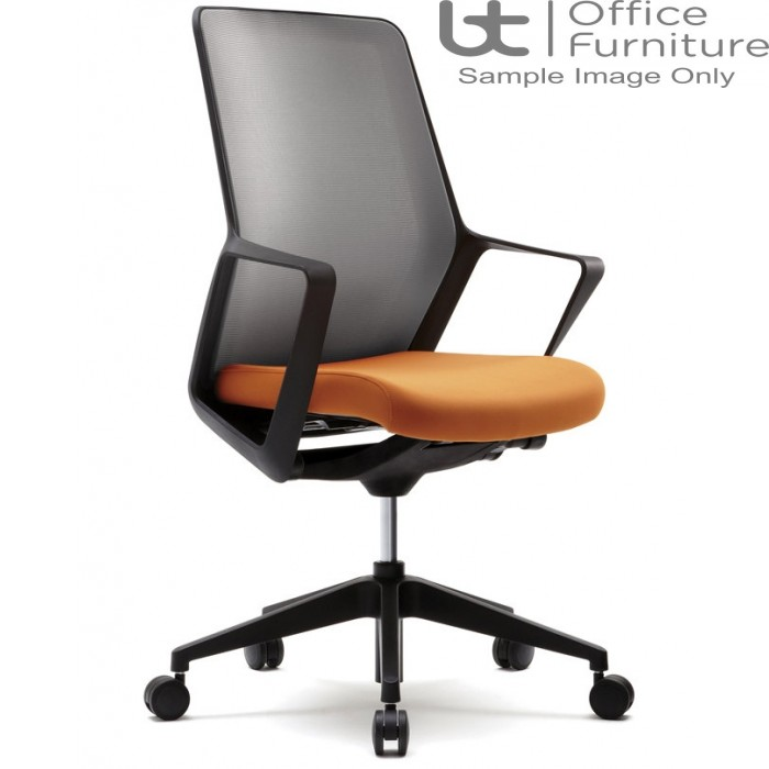 Verco Operator/Task Chair - Flow Black Frame High Back Task Chair with Arms