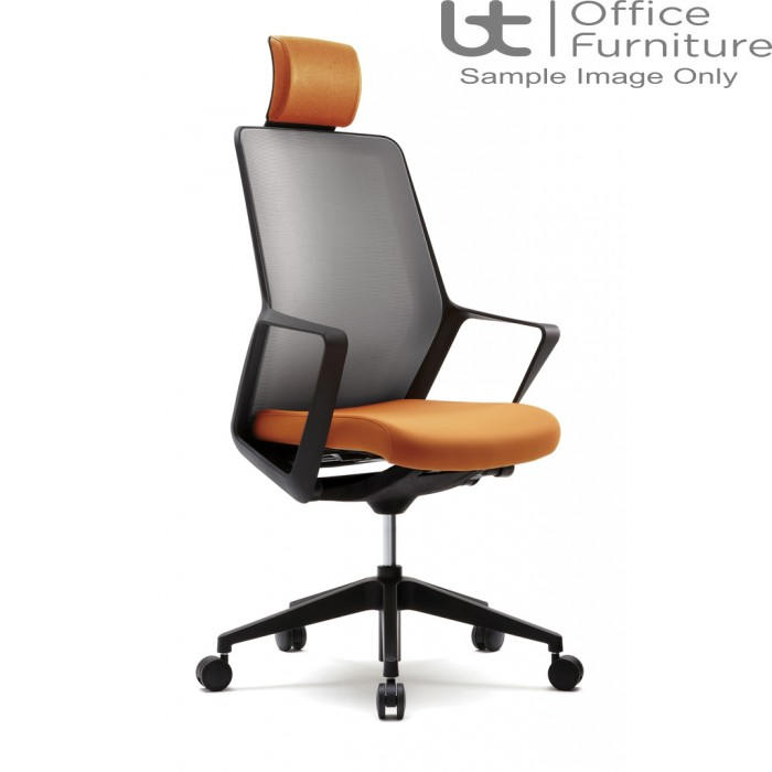 Verco Operator/Task Chair - Flow High Back Task Chair with Arms & Headrest