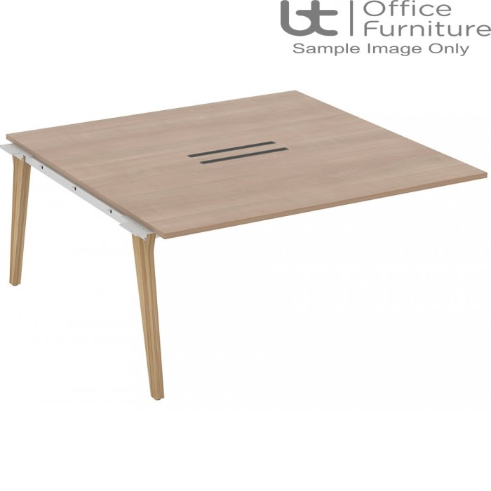 Elite Lux Combined Add-On Double Bench with Shared Leg 1400mm Deep