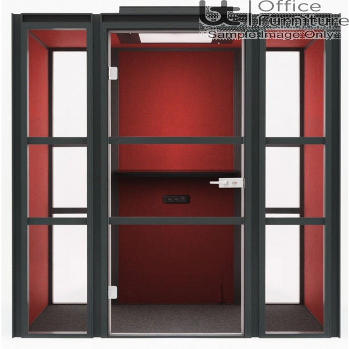 Modern Hako Acoustic Booth - Accommodates: 2 TO 4 people, 3 Upholstered Walls