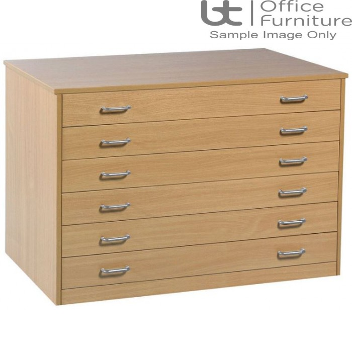 School Art Storage - 6 drawer plan chest static or mobile
