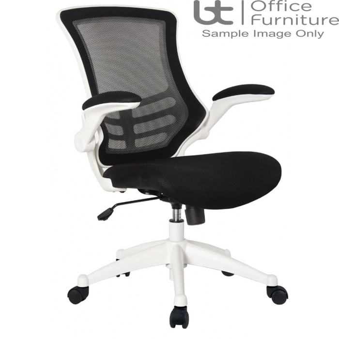 Aurora Seating - High Back Mesh Operator Chair in Black with White Shell