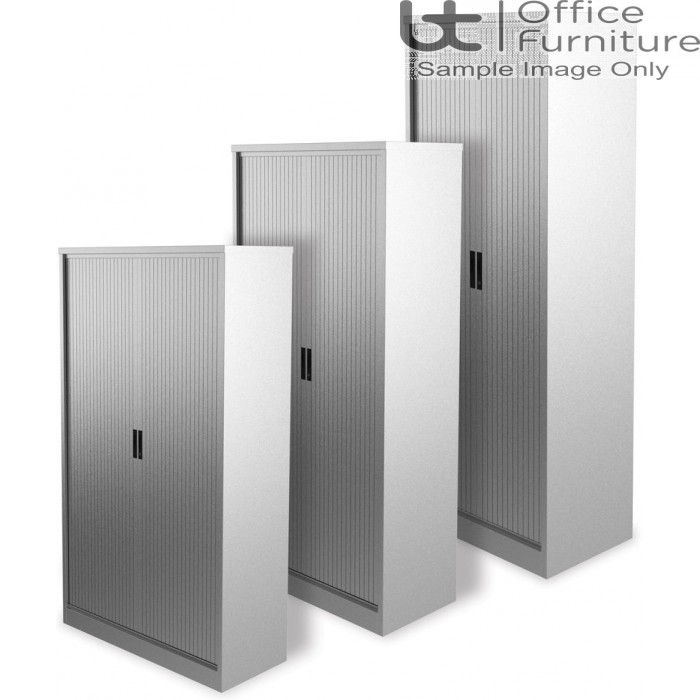 Silverline M:Line Tambour Cabinet 1000mm Wide, Assembled - Supplied Empty - (inc lev feet)