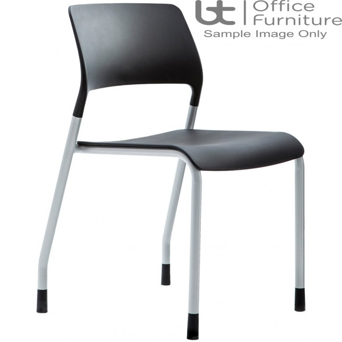 Verco Visitor / Conference Seating - Muse 4 legged Black Plastic Stacking Chair
