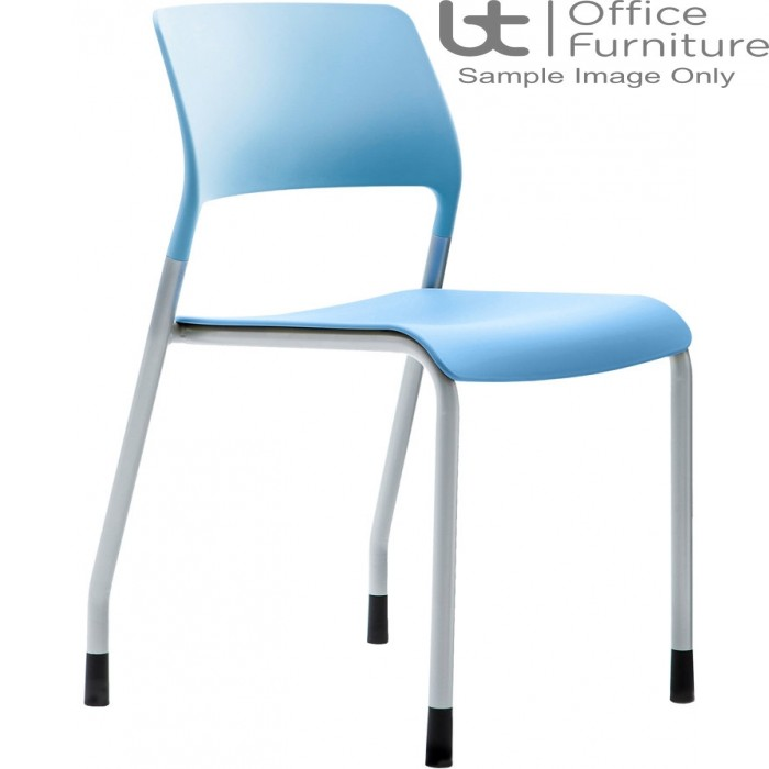 Verco Visitor / Conference Seating - Muse 4 legged Blue Plastic Stacking Chair