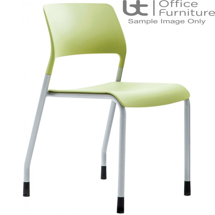 Verco Visitor / Conference Seating - Muse 4 legged Green Plastic Stacking Chair