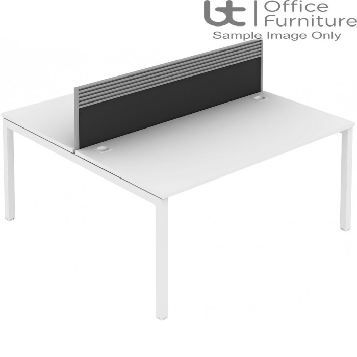 Elite Matrix Screen - Fabric (Fixed Height) Screen With Management Rail For Double Desk