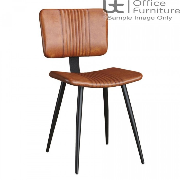 ZP OPEL Side Chair – Bruciato Leather