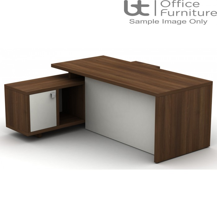 Cirrus Executive Rectangular Desk With Credenza And Full Length Modesty Panel