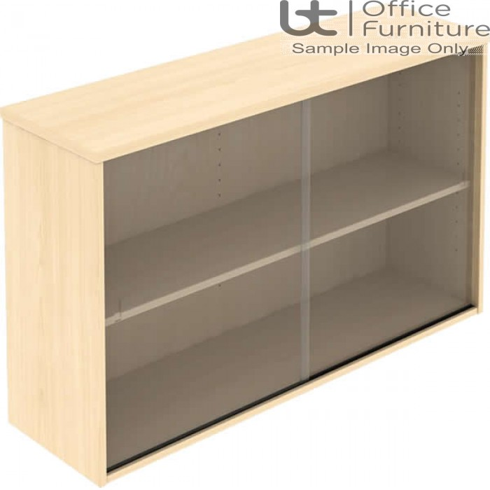 Elite Glass Fronted Top Storage Unit with Sliding Doors