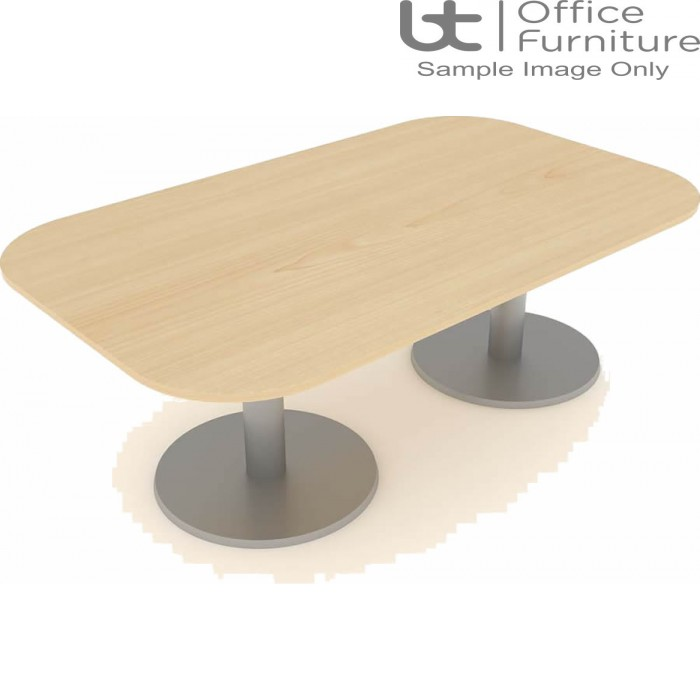 Elite Optima Plus Double D Ended Conference Table Seats Up To 8 People