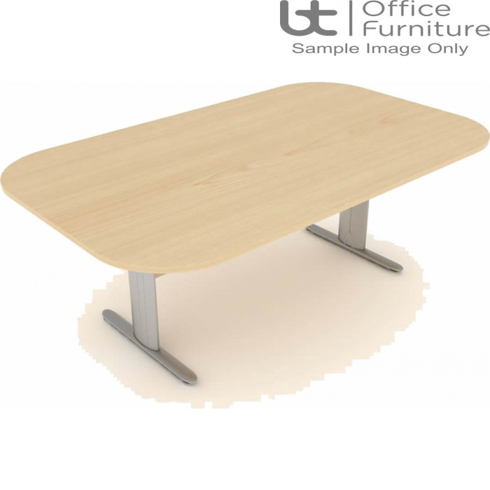 Elite Optima Plus Double D Ended 'I' Frame Conference Table Seats Up To 8 People 2000mm Wide