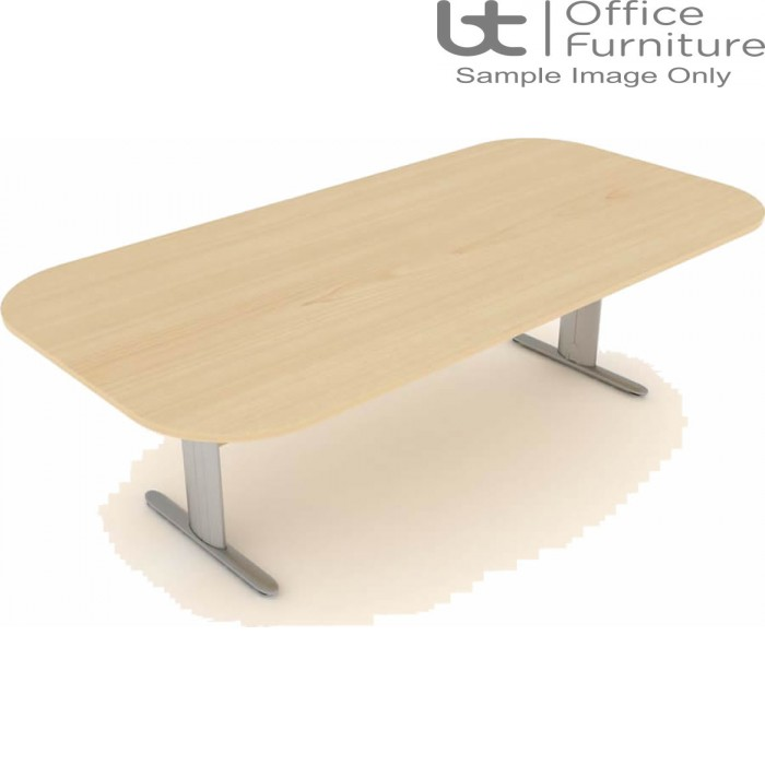 Elite Optima Plus Double D Ended 'I' Frame Conference Table Seats Up To 8 People 2400mm Wide