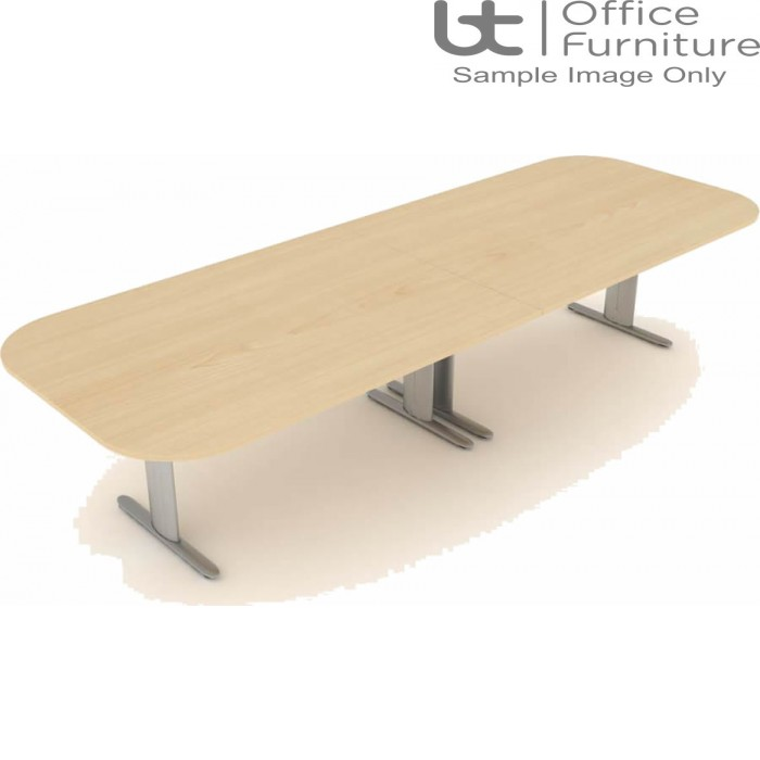 Elite Optima Plus Double D Ended 'I' Frame Conference Table Seats Up To 10 People