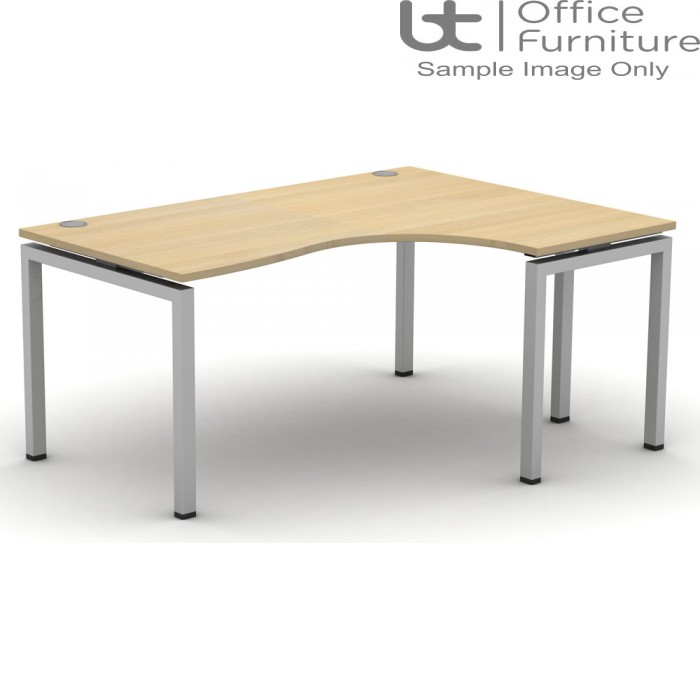 Soho2 Crescent Desk 800D x 600Dmm - Right Hand Illustrated