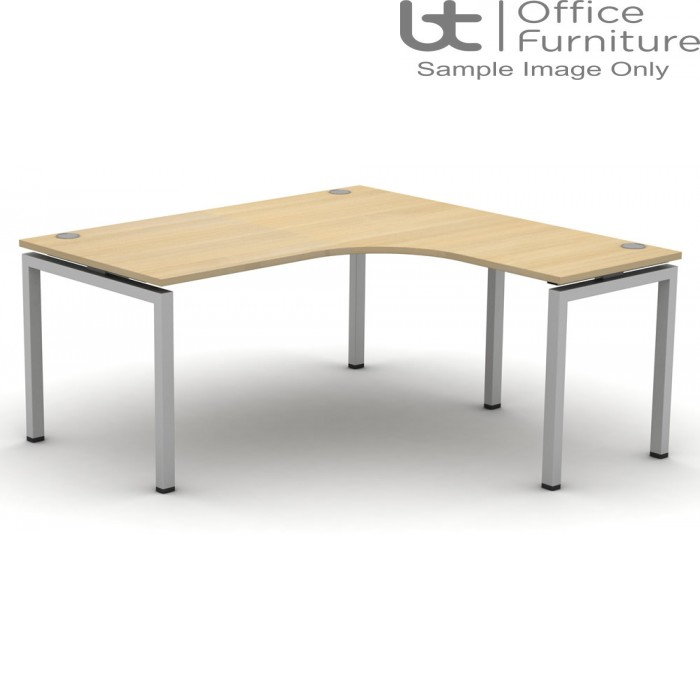 Soho2 Extended Crescent Desk 800D x 600Dmm - Right Hand Illustrated