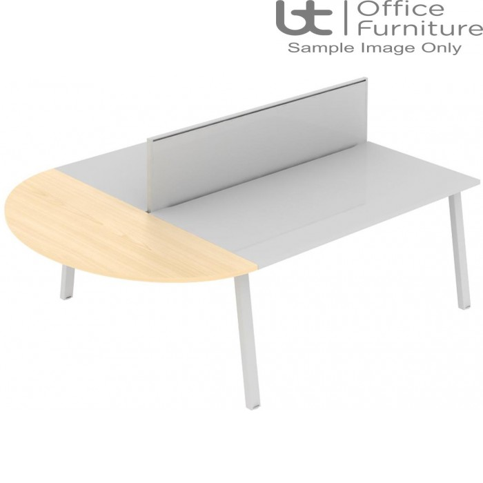 Elite Linnea Table - Curved Extension (with acoustic dividing screens)