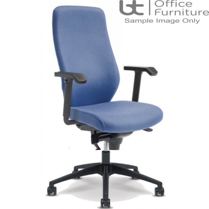 Verco Operator/Task Chair - Profile 24 High Back Task Chair with Adjustable Arms